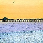 The Long Pier - Art by Sharon Cummings by Sharon Cummings