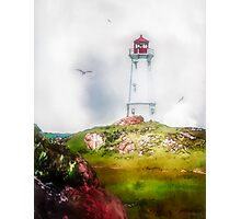 Morning Mist - Louisbourg Photographic Print