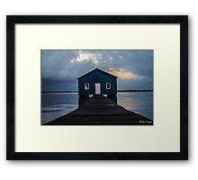Crawley Boatshed Framed Print