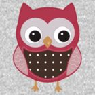 Kids Tees Pink Owl by Hendude