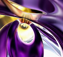 Passionate Orchid Abstract by Alexander Butler