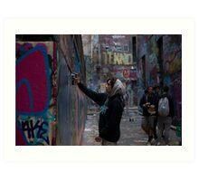 Graffiti Artist - Rutledge Lane Melbourne Art Print