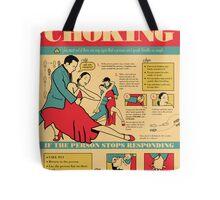 Tango Themed Choking Victim Poster Tote Bag