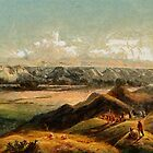 View of the Rocky Mountains from an aquatint by Karl Bodmer 19th century by Dennis Melling