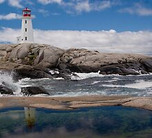 Peggy's Cove day by Harv Churchill