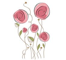 delicate floral background in vector format Photographic Print