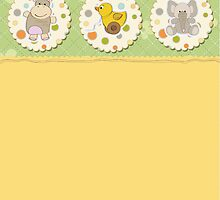 cute baby shower card by Balasoiu Claudia