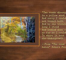 Robert Frost quote greeting card by Lucyblue54
