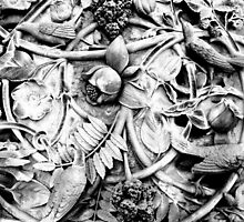 Ornate Stone Relief at Bethesda Fountain, Central Park by Koon