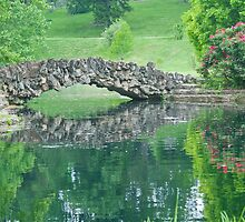 Stone Bridge Over Pond by GysWorks