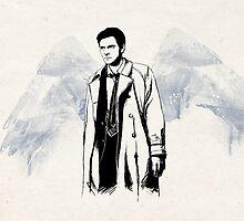 Castiel portrait sketch / SUPERNATURAL by koroa