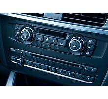 Car Temperature and Audio Controls Photographic Print