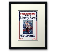 If You Can't Enlist - Invest Framed Print