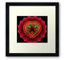 Red Velvet Heart Framed Print
