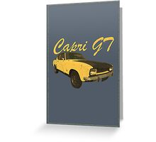 Vintage Aged Look Ford Capri GT Graphic Greeting Card