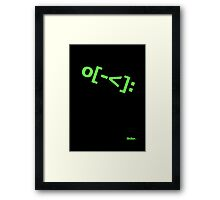 Skater Emoticon Framed Print