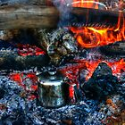 camp fire cooking  by BigAndRed