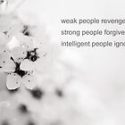 weak people revenge, strong people forgive, intelligent people ignore by netza