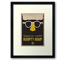 "Humpty Hump (Shock G)—""Hey yo fat girl, c'mere—are ya ticklish?"" Equal & Opposite funny glasses poster series. Part 2 of 2.  Framed Print"