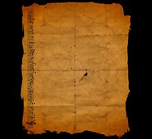 Goonies Treasure Map - Back Side by kc135