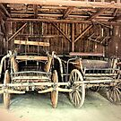 Old Wooden Carts by Lynn Bolt