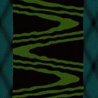 Ethnic Wave Pattern in Green by ibadishi