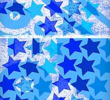Urban Style Star Pattern in Blue Tones by ibadishi