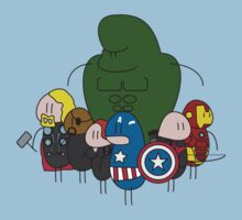 Little men Avengers (coloure) by Sam Weeks
