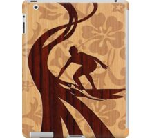 Faux Koa Wood Hawaiian Surfer  iPad Case/Skin