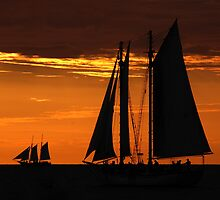 Tall Ships at Sunset II by Noah Browning