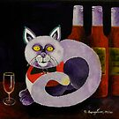 Cat-alocholic bar Cat by Sandra  Sengstock-Miller