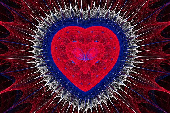 Red, White and Blue Heart by Sandy Keeton