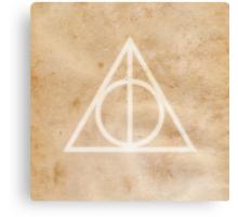 Deathly Hallows on Parchment Canvas Print