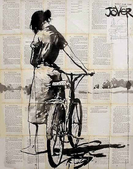 her bicycle ...... (was her favorite thing) by Loui  Jover