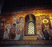 Saint Peter Mosaic Chapel of Normans Palatine Chapel Palermo 198403240015 by Fred Mitchell