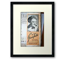 "Day 180 | 365 Day Creative Project  ""Gracie Fields"" Framed Print"