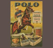 Vintage polo sports horse advertise by kustom