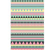 Bright Aztec Pattern Photographic Print