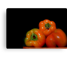 Peter's Perfect Peppers Canvas Print