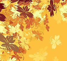 Gold Autumn Leaves by moonbloom