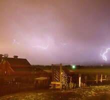 McIntosh Farm Lightning Thunderstorm View by Bo Insogna