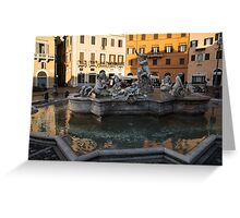 Neptune Fountain Rome Italy Greeting Card