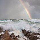 Rainbow over Yabarra Beach by TonySlattery
