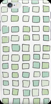 Sea Glass City Blocks by AwayLaughing