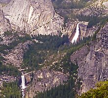 Nevada and Vernal Falls from Washburn Point, Yosemite Valley by TonyCrehan