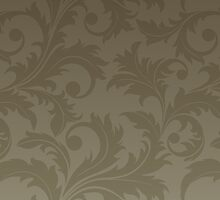 French Damask, Ornaments, Swirls - Brown  by sitnica