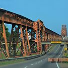 Huey Long Bridge, 2nd version-Baton Rouge by Sharon Elliott-Thomas