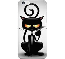 Cattish Angry Black Cat Cartoon iPhone Case/Skin