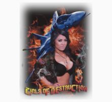 Girls of Destruction with fighter jet shirt by mcdesign
