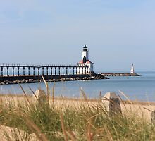 Michigan City East Pierhead Lighthouse, IN by Jackie Huppenthal